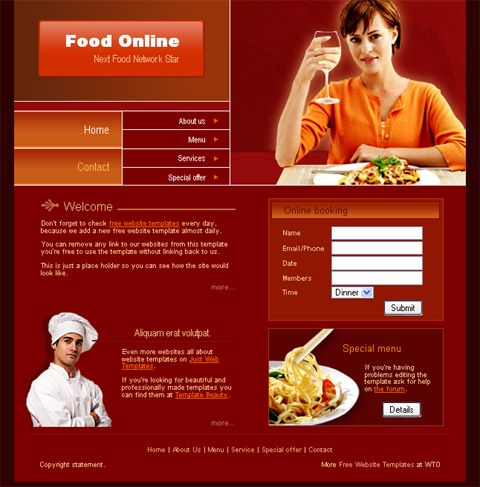 Online Web Template. 12 free responsive business website templates ...