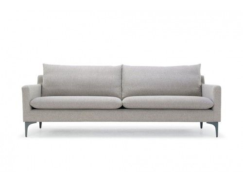Kamma 3 Seater Sofa Spring Natural Antracit Grey Metal Legs Sofa 3 Seater Sofa Seater Sofa