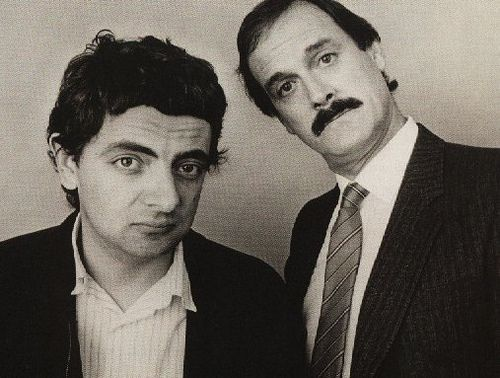 Rowan Atkinson and John Cleese I SO LOVE these two British Comedians with So much Passion it's Sickening LOL! <3