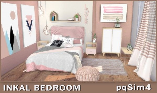 Pqsims4 Inkal Bedroom Sims 4 Bedroom Sims 4 Beds Sims 4 Pets