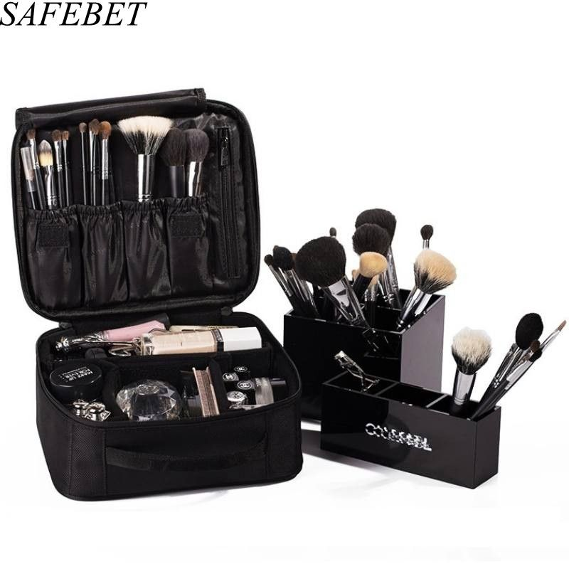 ffa4f2121c2f SAFEBET Brand Waterproof Women Professional Cosmetic Bag Travel Portable  Organizer Necessaries Large Capacity Makeup Bag case