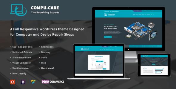 Compu-Care Computer & Mobile Repair Shop WordPress Theme by