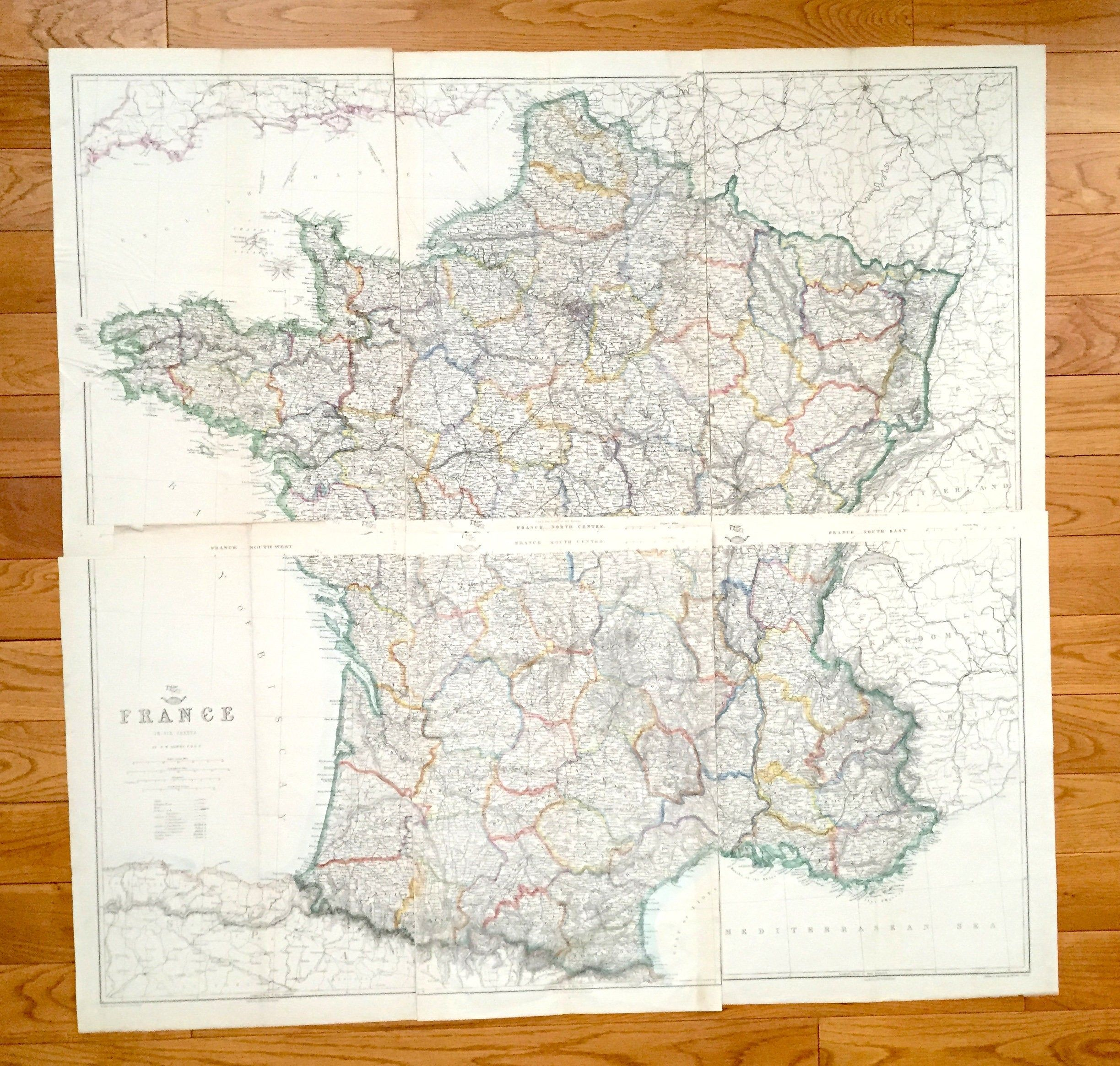 Antique 1863 France Map by Lowry & Weekly Dispatch – Paris ... on transmission maps, data maps, shipping maps, service maps, inventory maps, jail maps,
