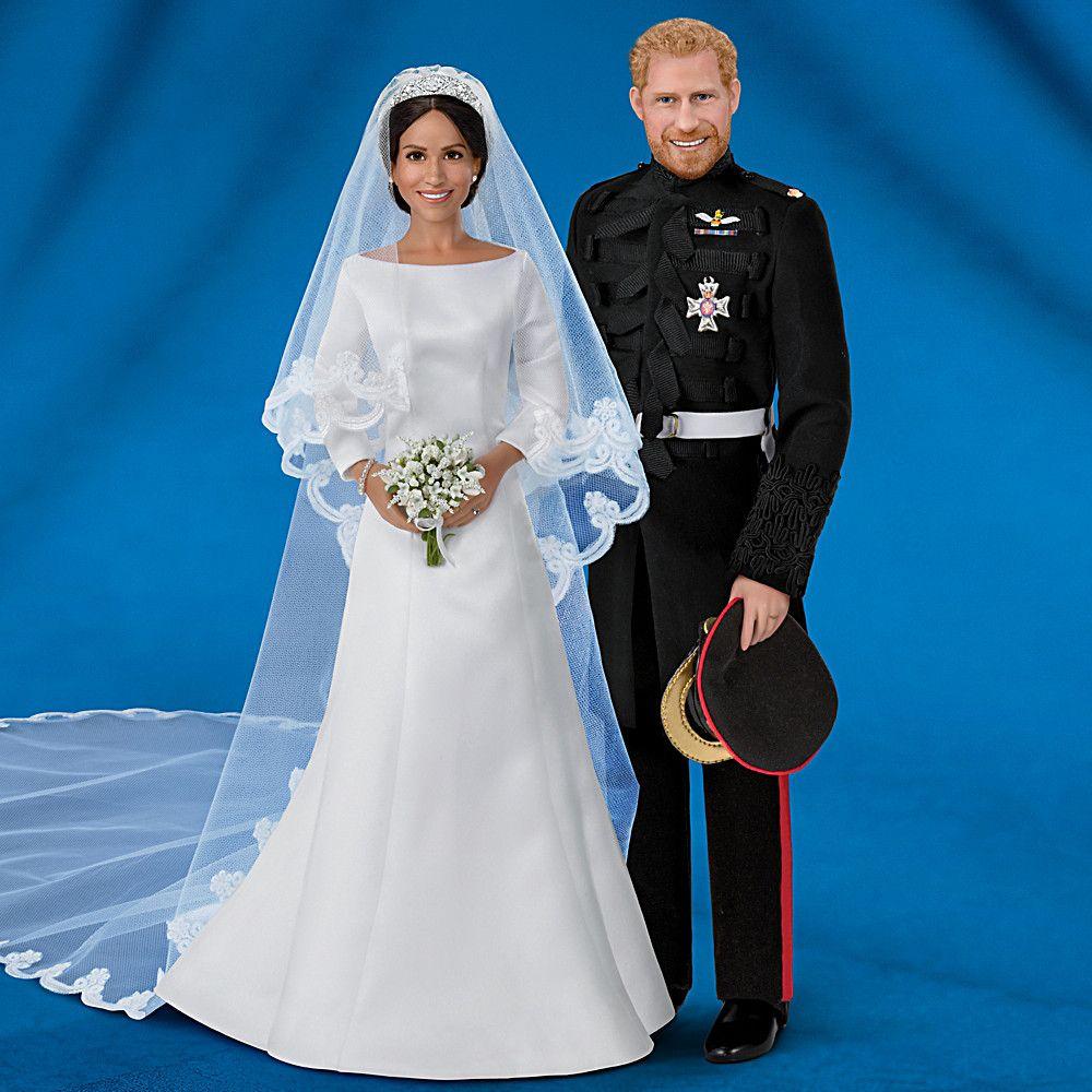 Meghan Markle Royal Bride Figurine With 8 Swarovski Crystals
