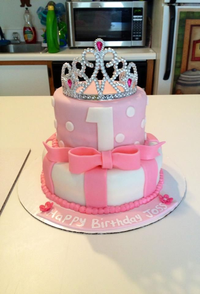 1st Birthday Princess Cake 1st Birthday Princess Childrens