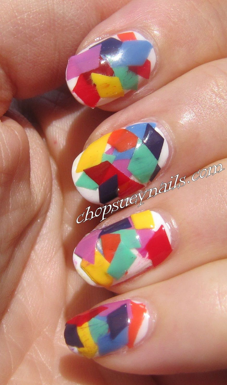 Chop Suey Nails: Take Two - Day 13 - Inspired By Artwork .JUST CUT ...