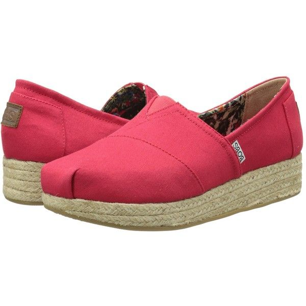 BOBS from SKECHERS Wedge Espadrille Memory Foam Women's Wedge Shoes ($50) ❤  liked on