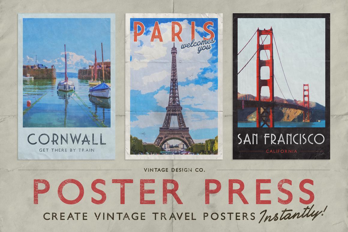 Posterpress For Photoshop Vintage Travel Posters Travel Posters Vintage Travel