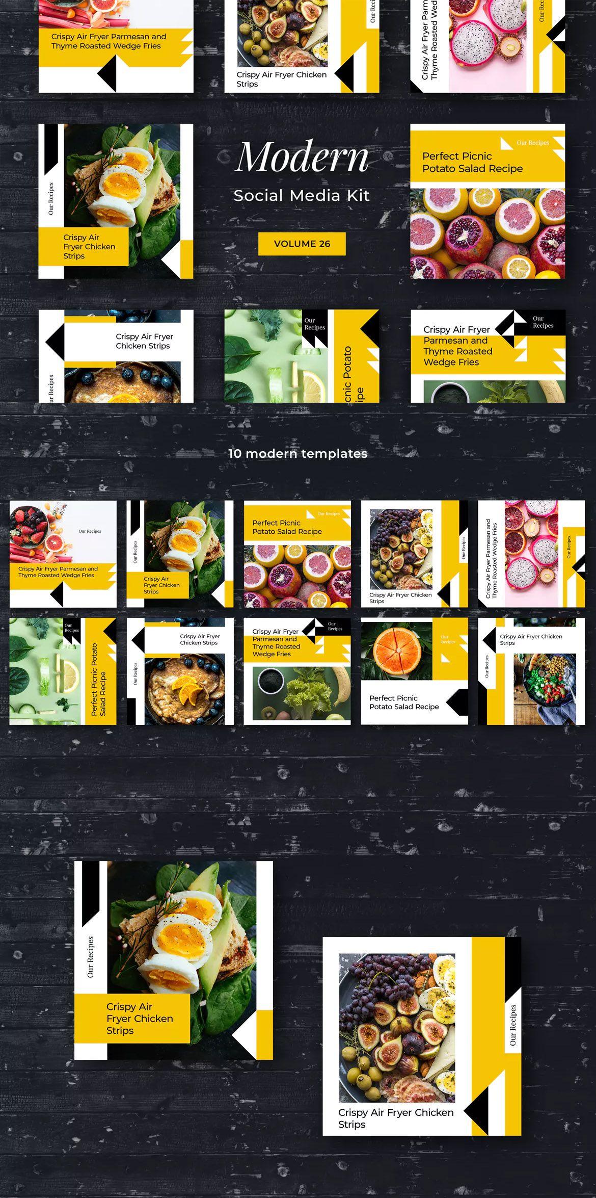 Modern Social Media Kit Vol 26 By Uispot On Media Kit