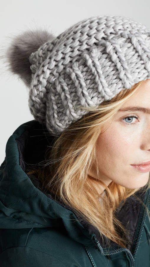 ee38e9703c1635 Skyline Beanie Hat | Things to Wear | Beanie hats, Hats, Pom pom ...