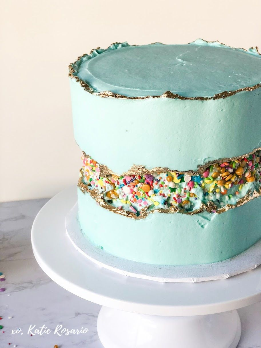 The fault line cakes are beautiful; you'll see them made ...