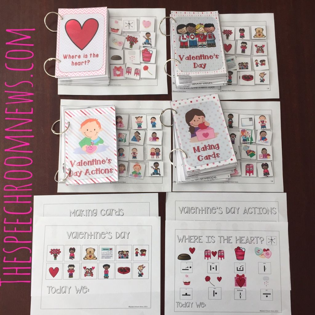 Interactive Vocabulary Books Valentine S Day