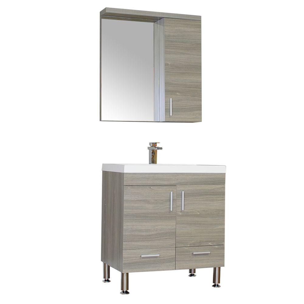 modern single bathroom vanity. ALYA-AT-8085 30\ Modern Single Bathroom Vanity