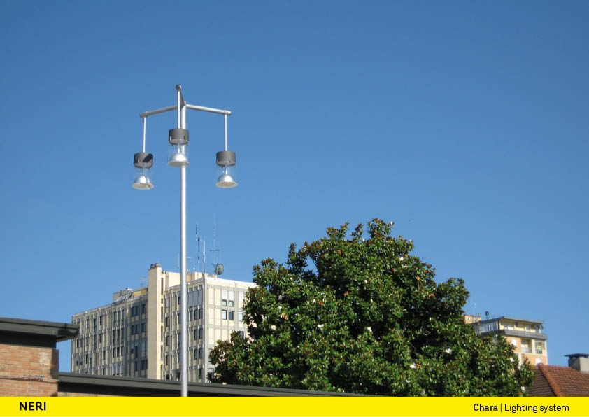 chara outdoor lighting system by neri spa product information
