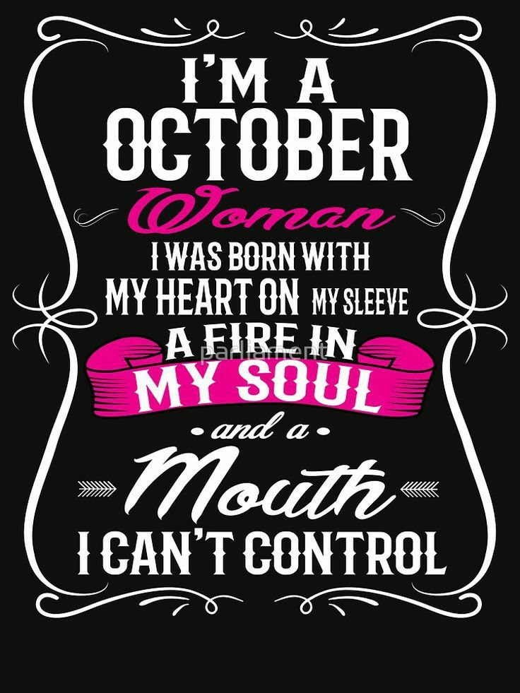 Pin by Rozy on Zodiac... October quotes, Birthday girl