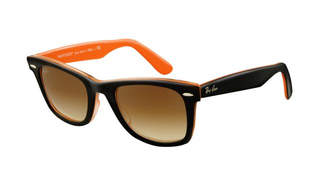 e5652618ba Ray Ban RB2140 Wayfarer Sunglasses Top Black on Transparent Orange Frame  Crystal Brown Gradient Lens