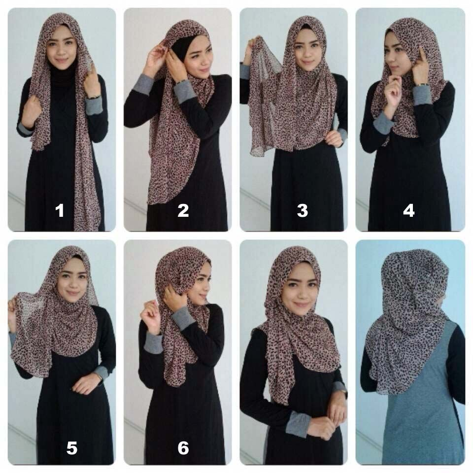 How to hijab wear covering chest fotos