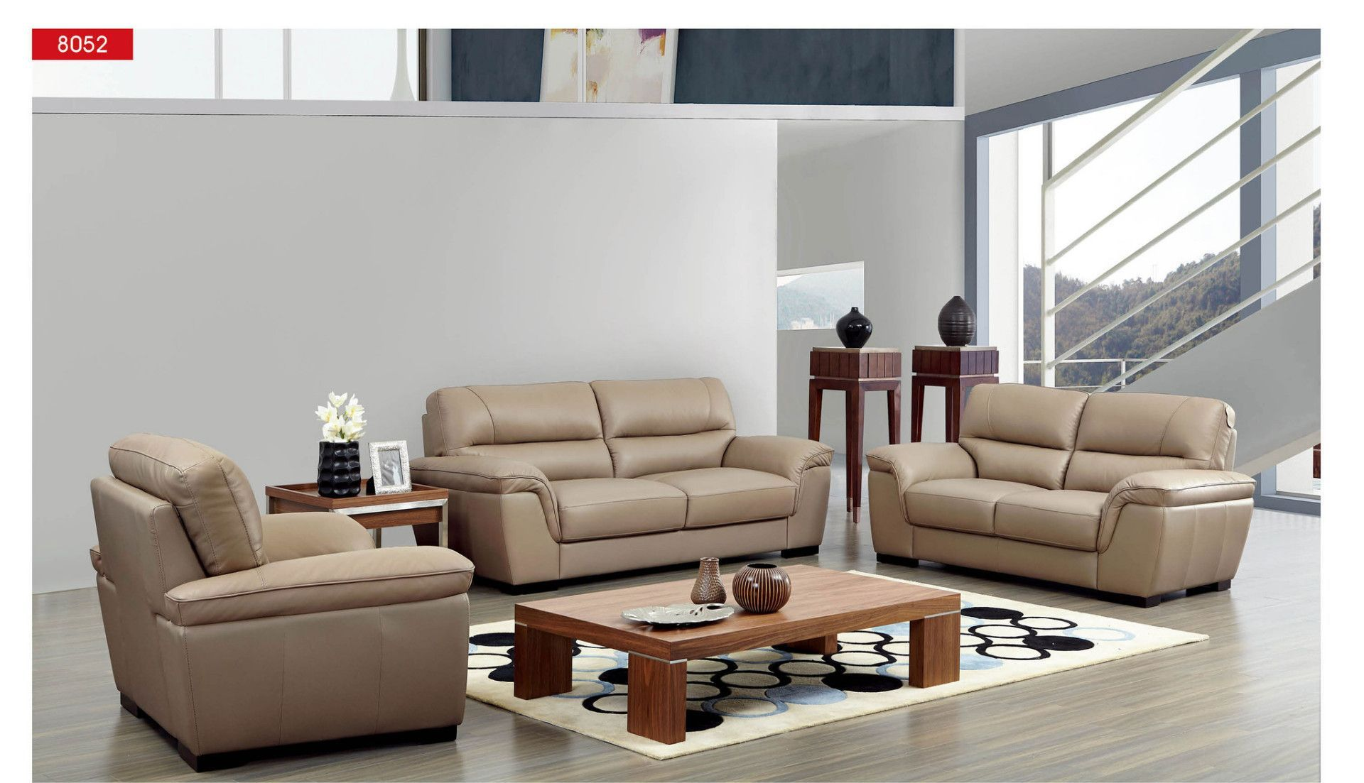 ESF Sofa 8052Description : This modern living room Sofa has a quiet ...