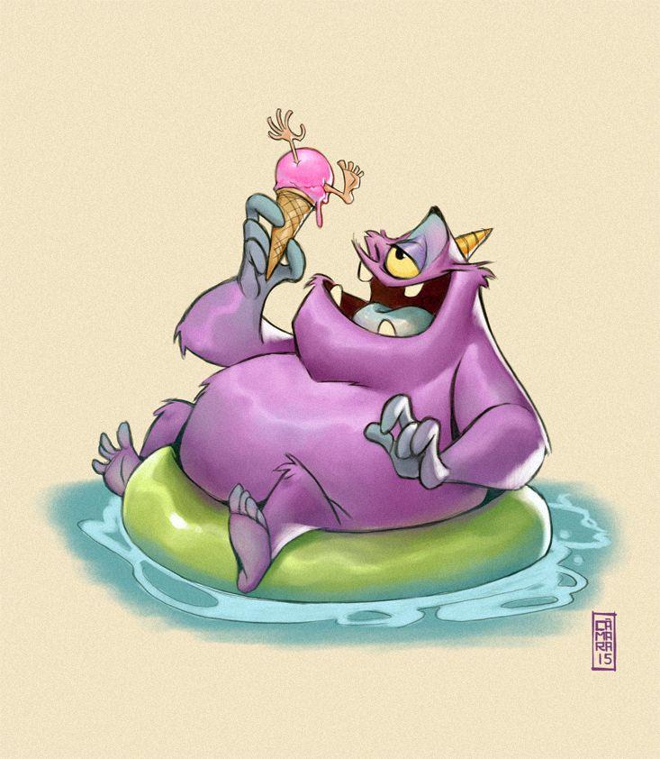 Purple People Eater by Alberto Camara for Sketch Dailies