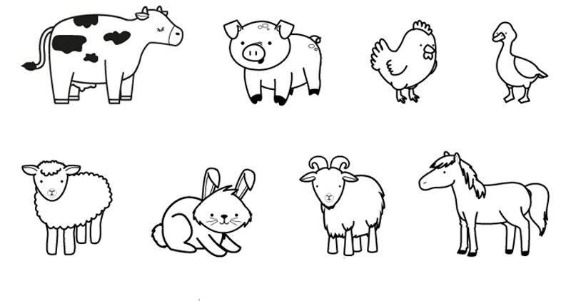 10275 Animales De La Granja Dibujo Para Colorear E Imprimir 10 Animales Para Colorear Granja Dibujo Animales Para Imprimir Animalitos Para Colorear