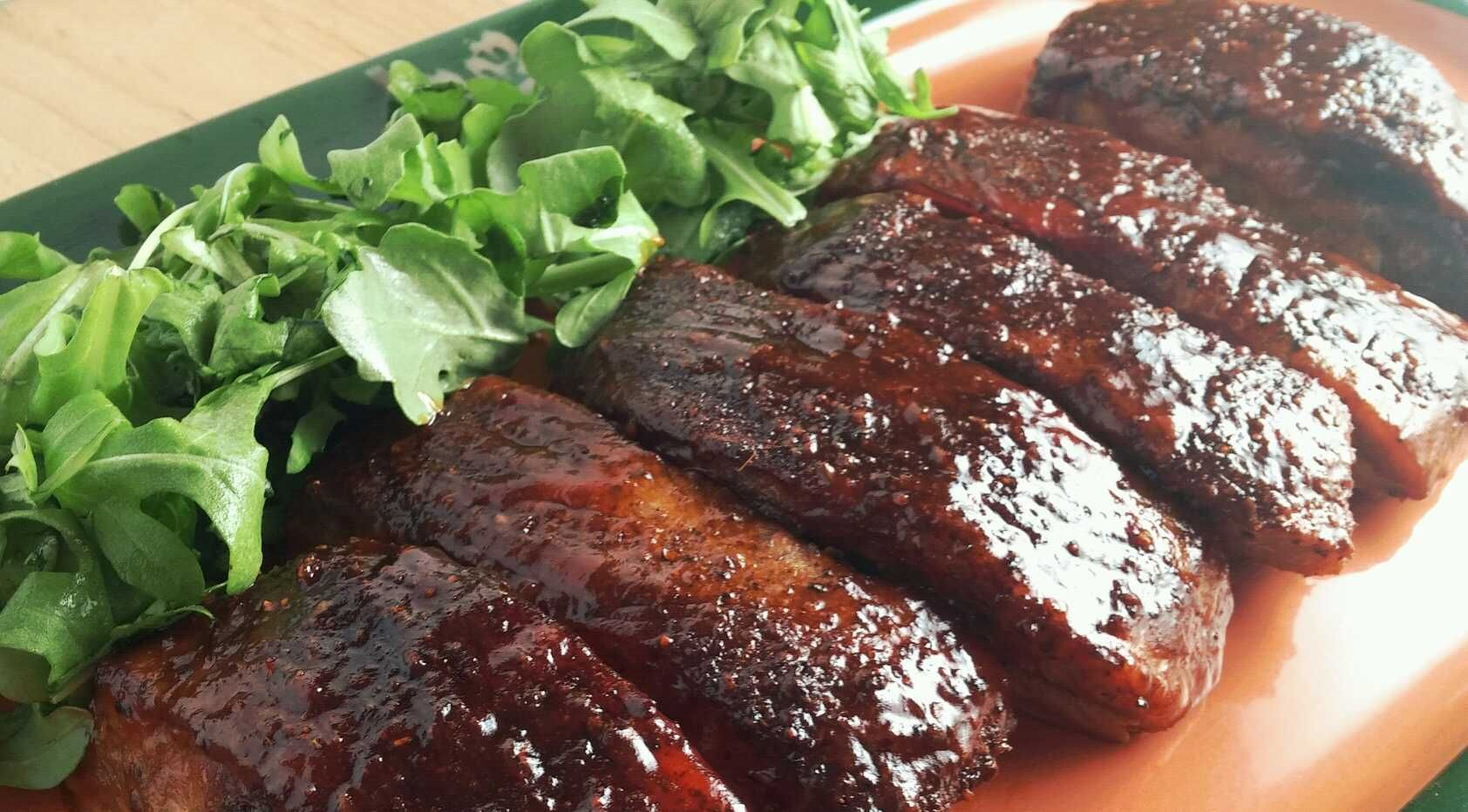 Bbq Ribs Pork Smoking Meat Recipes Use Cherry E Wood And A Digital Electric Smoker For Lot Of Flavor