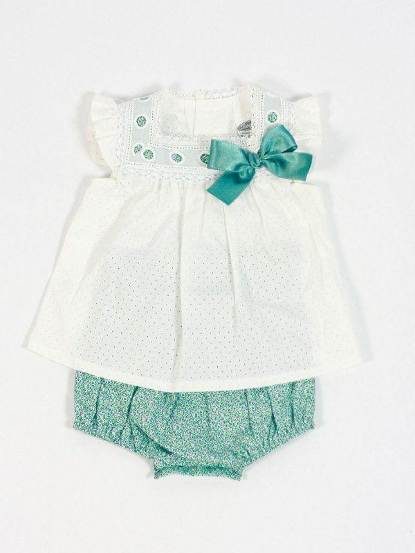 aff7f71cd comprar online conjunto bebe verde rochy verano niña - Ropa de bebé -   Tienda online www.lesbebes.es