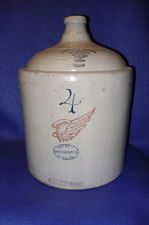 Red Wing Stoneware Jug 3 Gallon Beehive Vintage Pottery