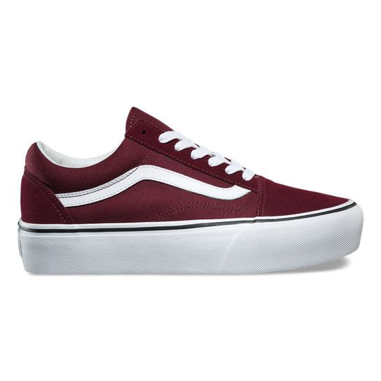 Platform Old Skool Shoes | Red | Vans in 2020 | Womens shoes ...