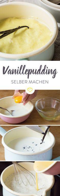 Ohne Tüte: Wie du cremigen Vanillepudding selber machst #dessertrecipes