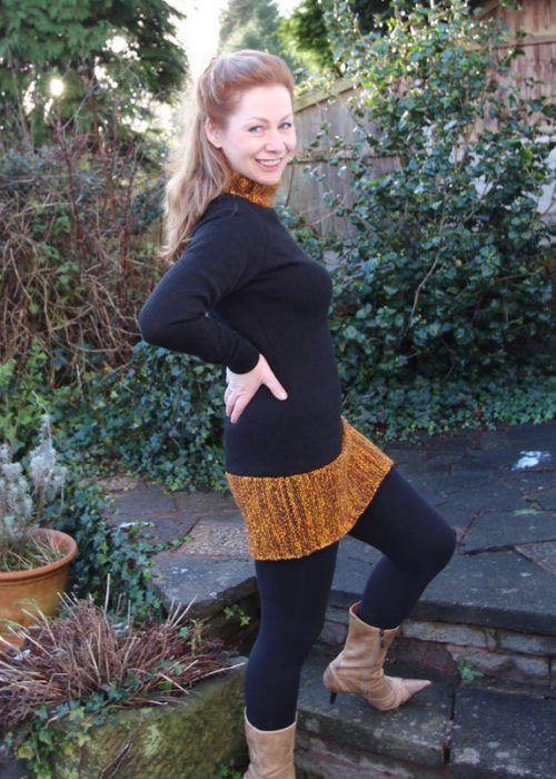 Winter Spice Sweater Machine Knitting Pattern Modern