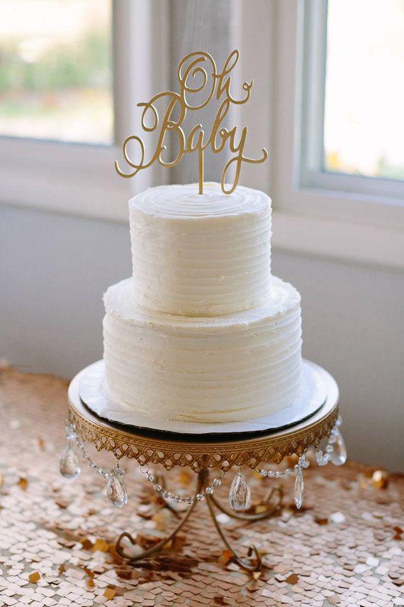 Baby Shower Cake Topper Oh Gender Reveal Girl