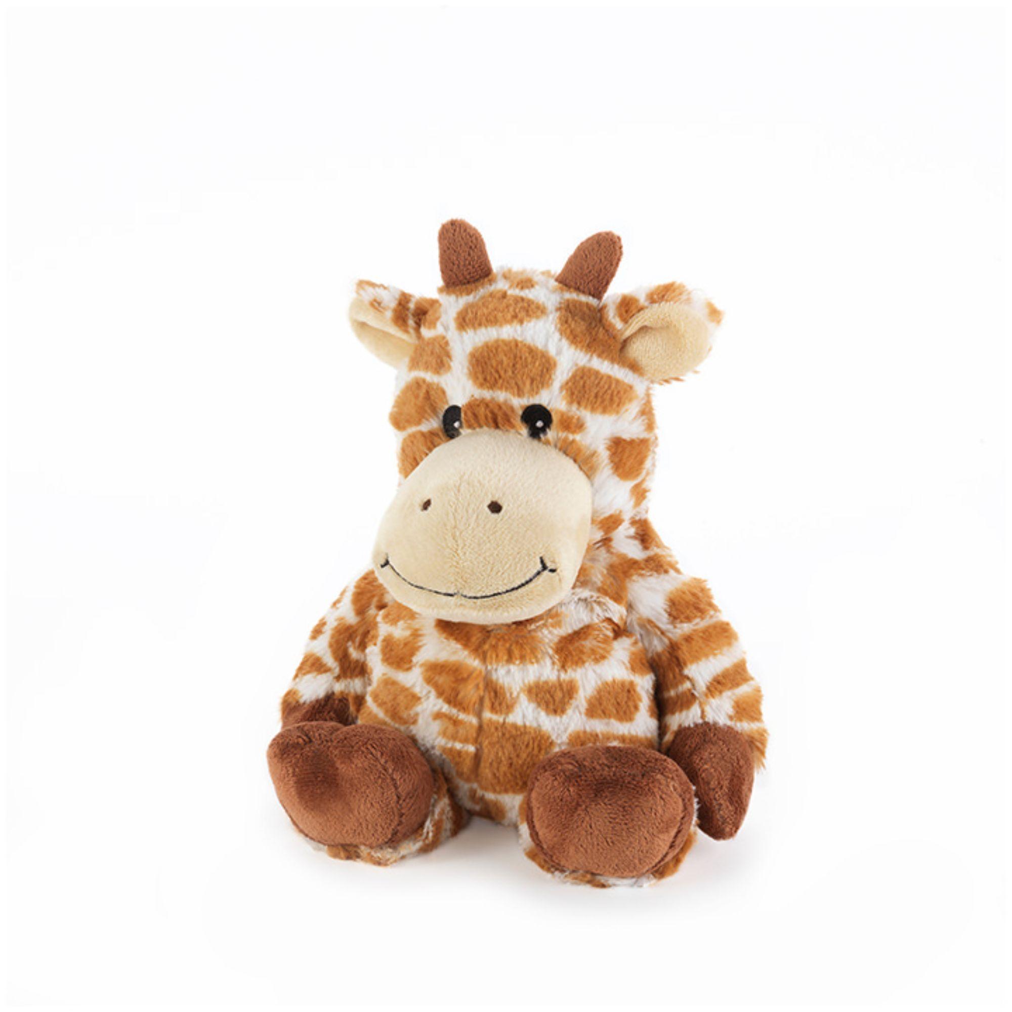 "13"" Brown and White Microwavable Plush Giraffe Stuffed"