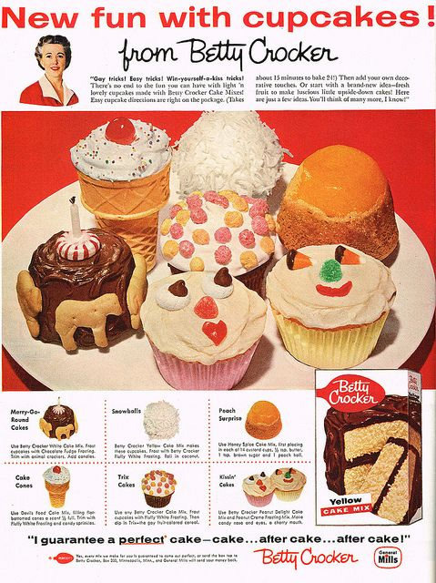 Vintage Ad 1 637 New Fun With Cupcakes From Betty Crocker