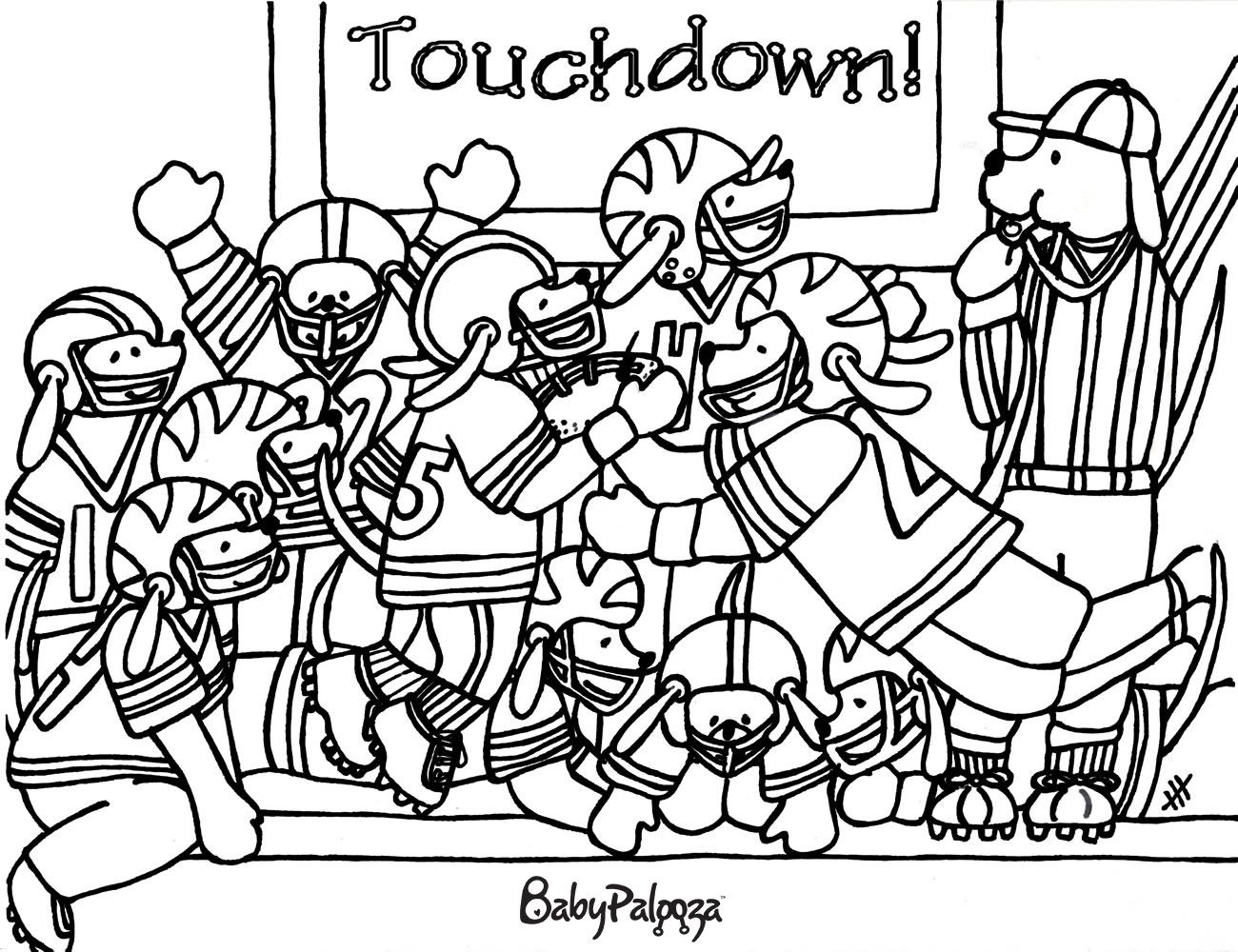 Puppy Bowl Coloring Page For The Kids To Color During Your