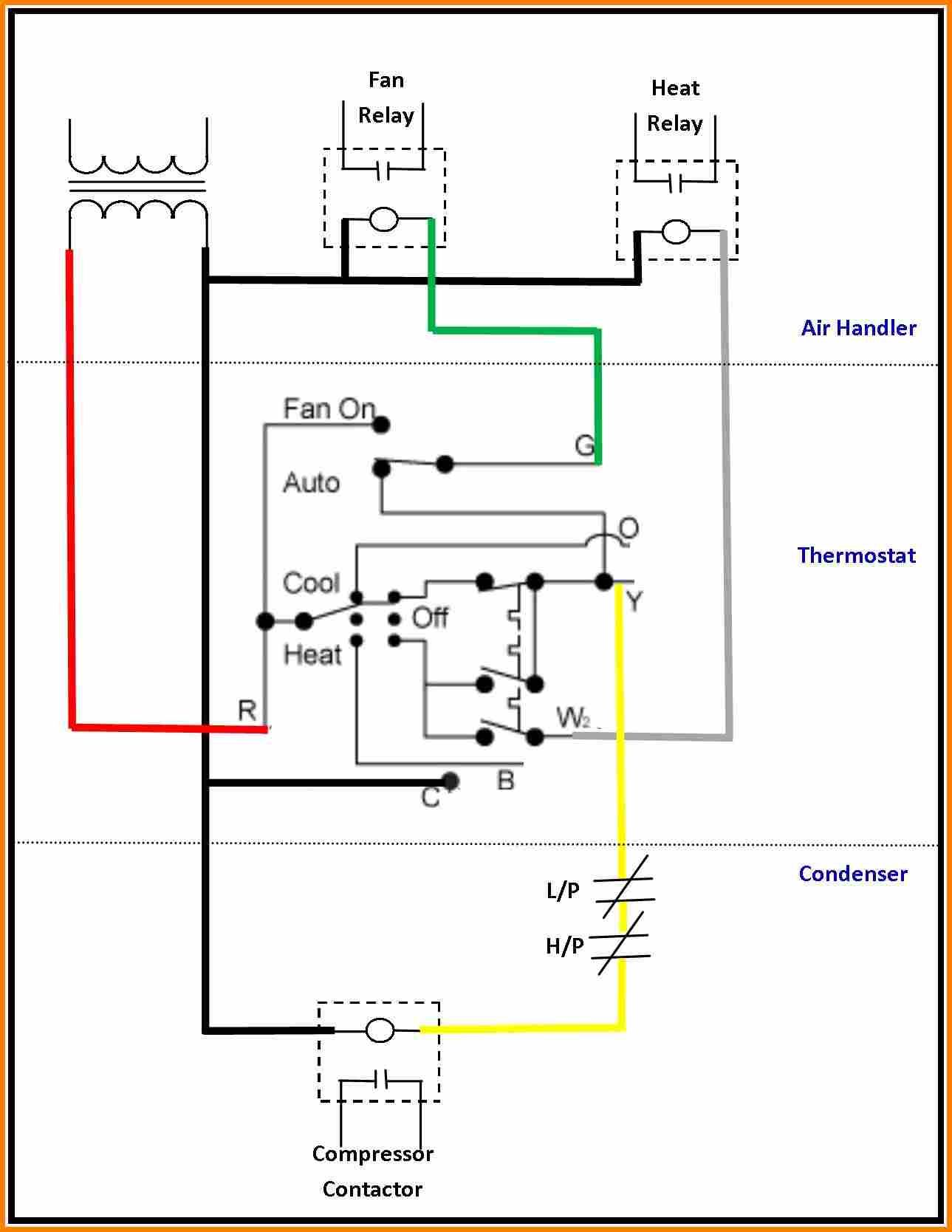 Wiring Diagram For Furnace Thermostat Wiring Ac Wiring Electrical Circuit Diagram