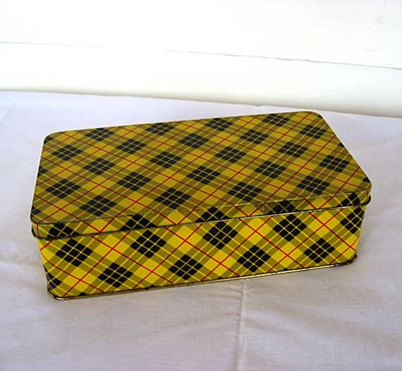 Vintage Black /& Yellow Container