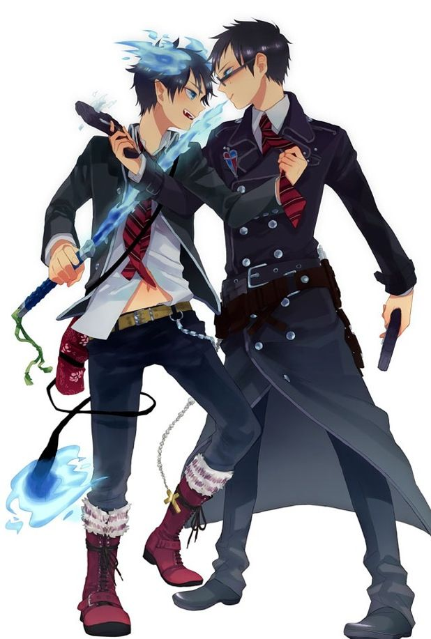 Blue Exorcist ~~ Wanna fight about it, bro?! :: Rin & Yukio