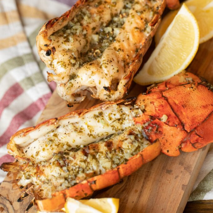 Grilled Lobster Tail with Lemon Garlic Butter | Grilled ...