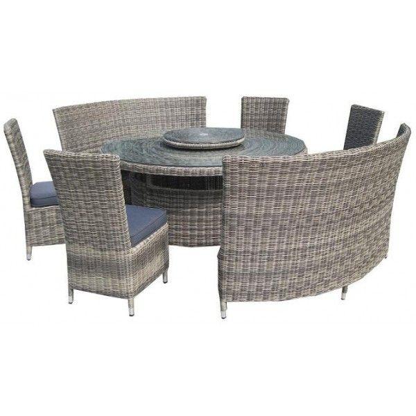 Incredible Round Table Benches Modena 8 Piece Round Table 8 10 Seater Inzonedesignstudio Interior Chair Design Inzonedesignstudiocom