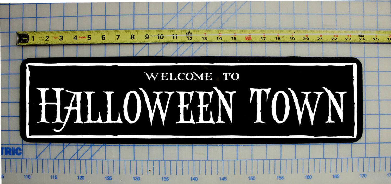 to Halloween Town Sign Nightmare Before Christmas