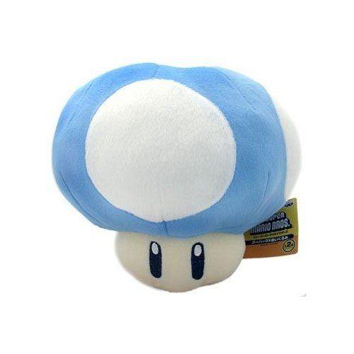 13 95amazon Com Super Mario Brothers Blue Mushroom 8 Inch Plush