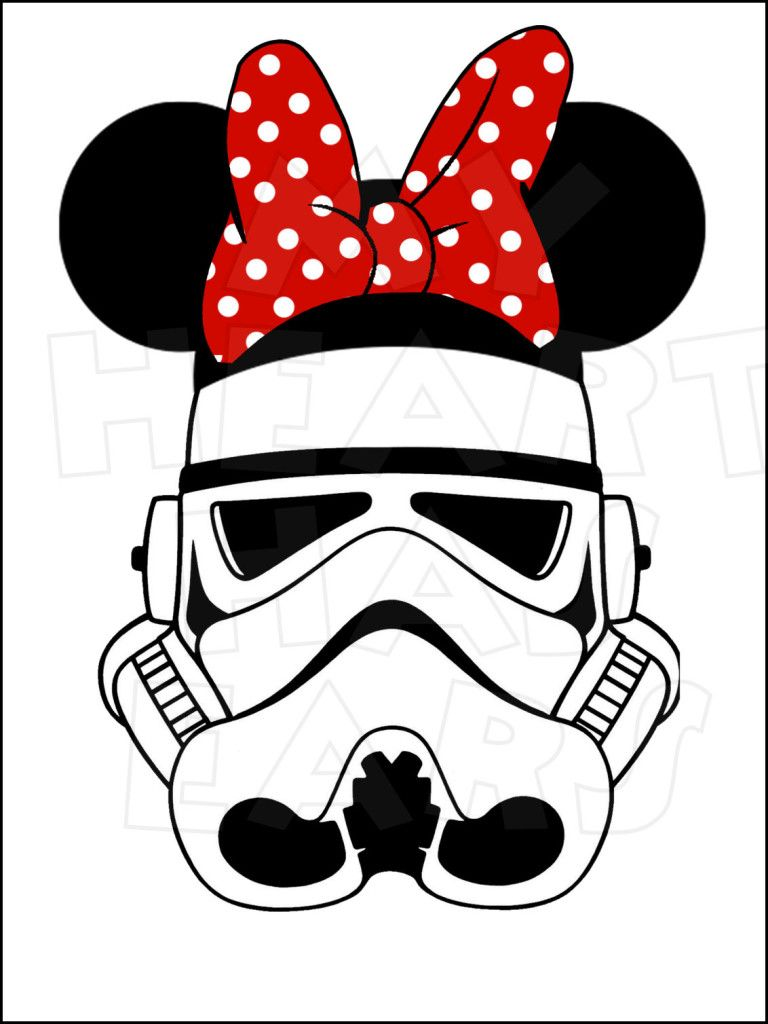 Storm Trooper With Minnie Mouse Ears Instant Download Digital Clip Art Diy Iron On Transfer My Heart Disney Iron On Disney Iron On Transfers Minnie Mouse Ears