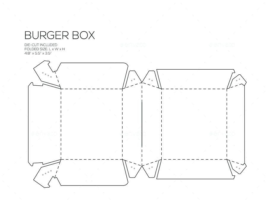 Pin on Box template printable