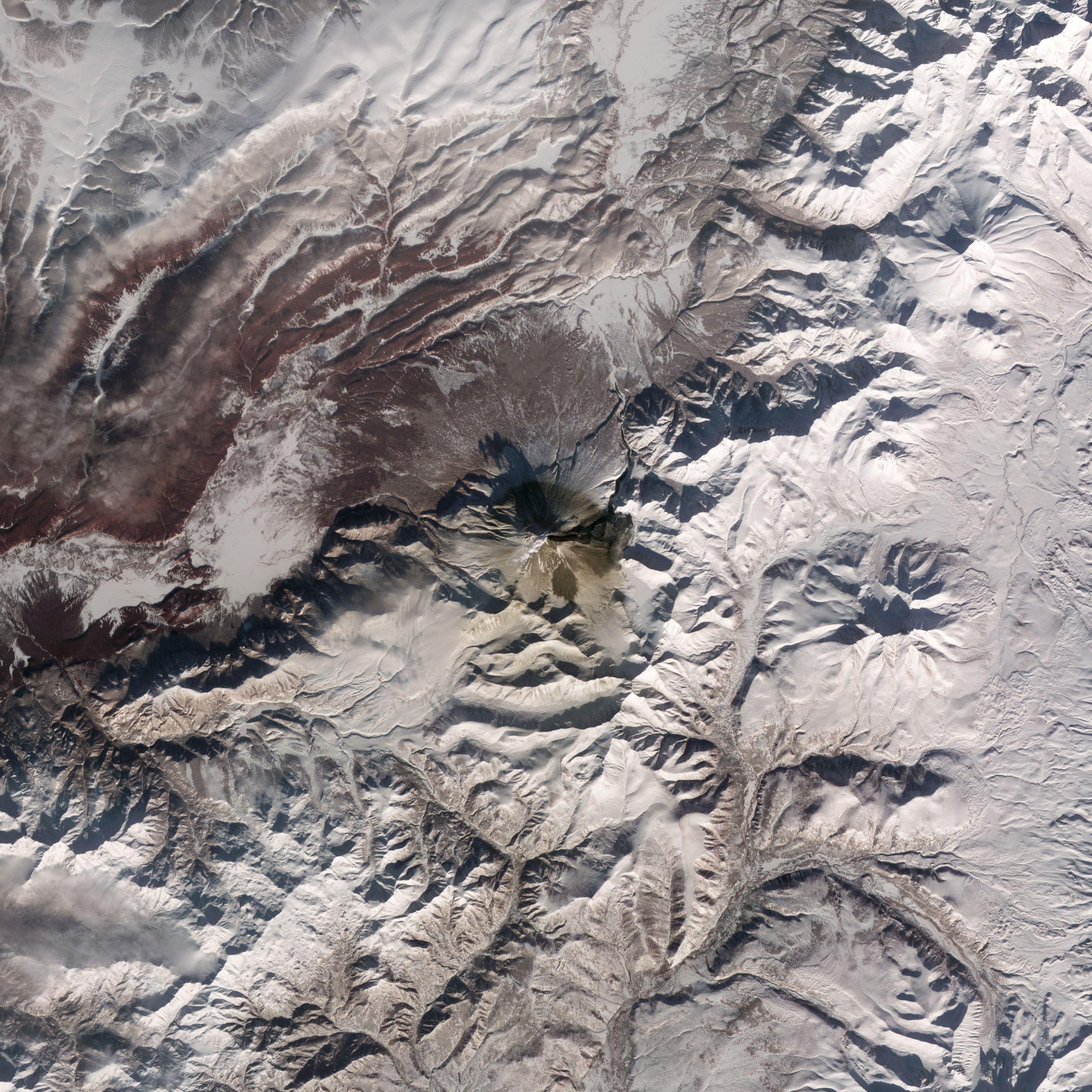 Russia S Kizimen Volcano Nasa