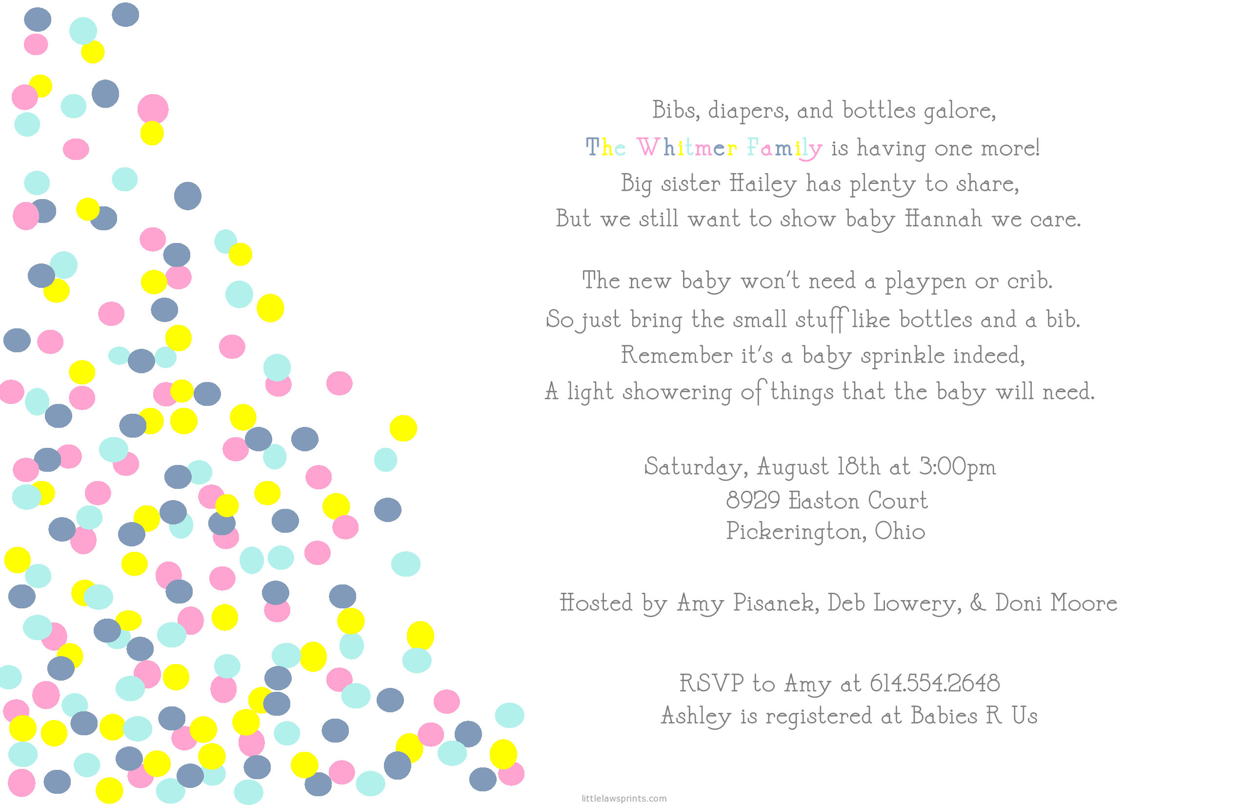 baby sprinkle invitation wording - Google Search | baby | Pinterest ...