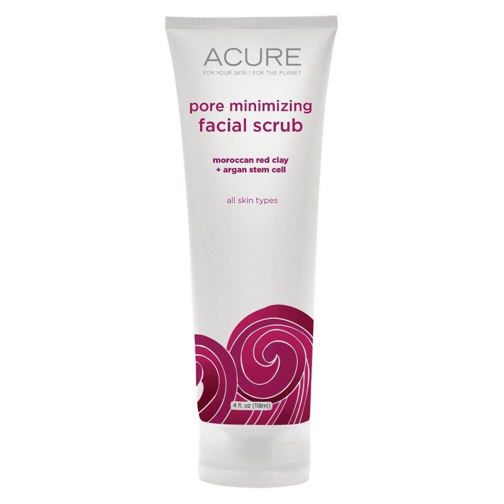 Acure Pore Minimizing Facial Scrub 4 Oz, Pink