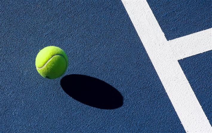 Blue tennis court wallpaper