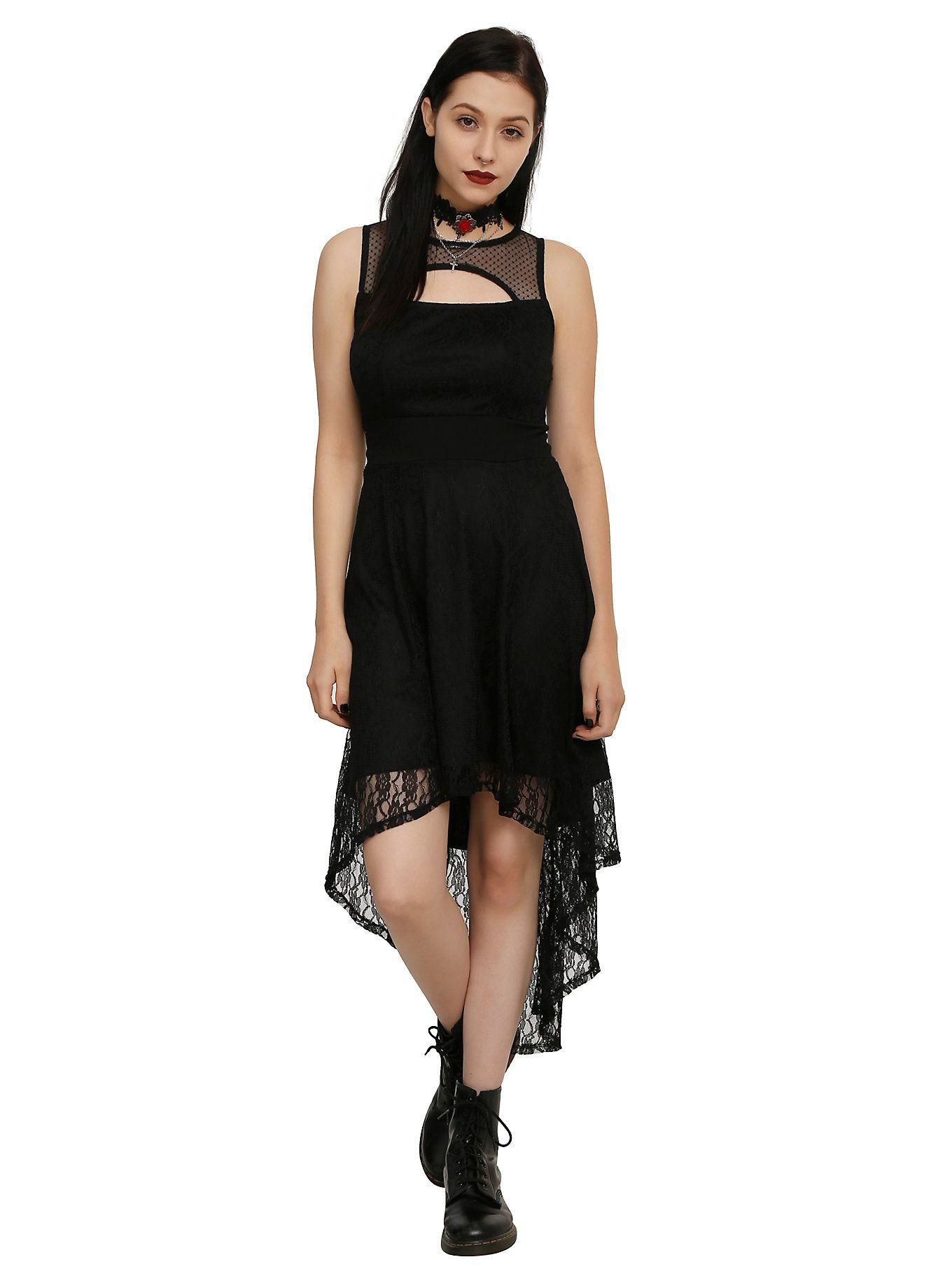 Royal Bones By Tripp Black Lace Hi-Lo Dress  e72ce09b6
