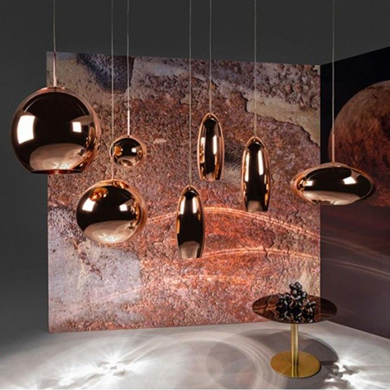 Copper Tall Suspension Lamp Tom Dixon Wide Pendant Light Copper Lighting Tom Dixon Copper