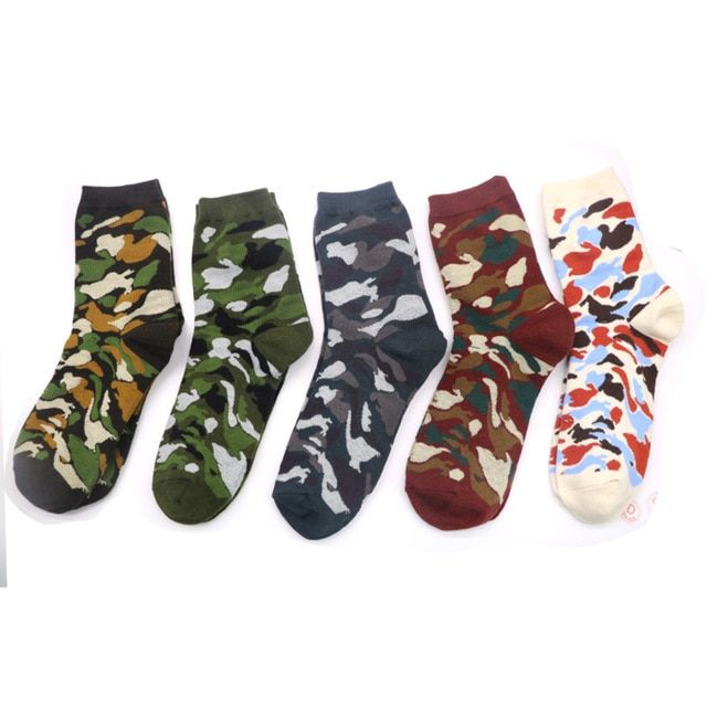 9a658bee0e 1Pair Fashion Camouflage Socks Men Colorful Calcetines Hombre Compression Socks  Art Funny Hip Hop 3D Print Ankle Sock Men Sokken Review